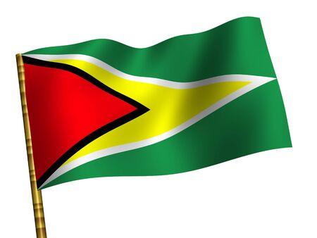 Guyana: National Flag. Guyana Stock Photo