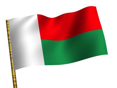 National Flag. Madagascar