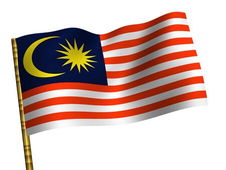 National Flag. Malaysia Stock Photo