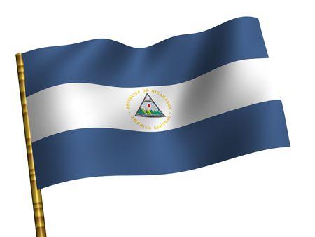 National Flag. Nicaragua photo