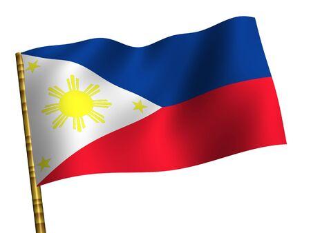 National Flag. Philippines Stock Photo