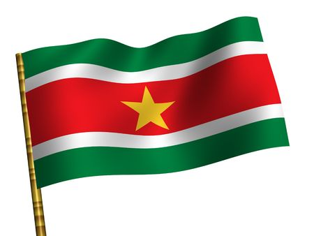 Suriname: National Flag. Suriname