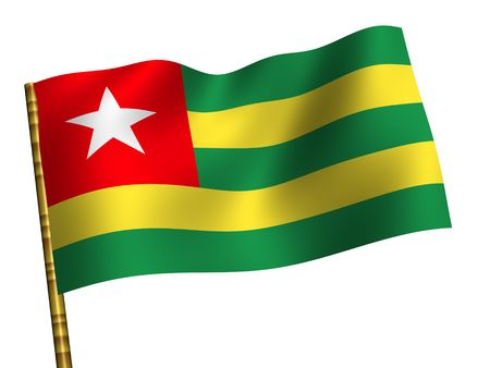 National Flag. Togo photo