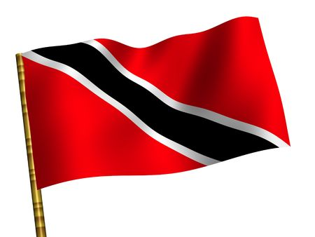 national flag trinidad and tobago: National Flag. Trinidad and Tobago Stock Photo