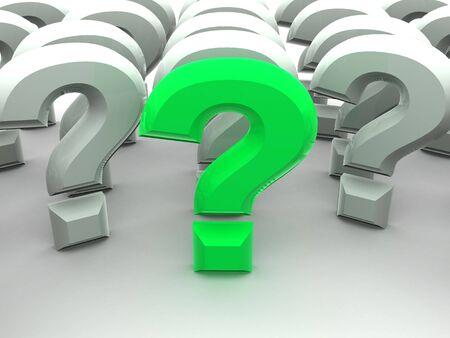 questionable request: Question Sign. 3d