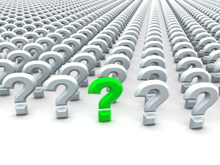 Question Sign. 3d Stock Photo - 3492881