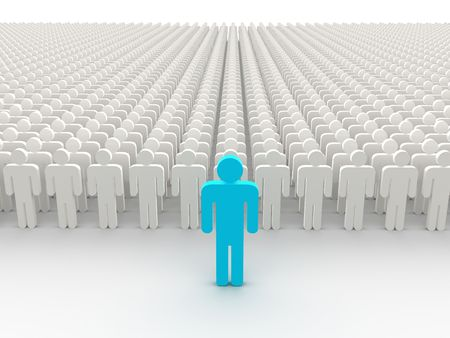 Silhouettes of people. 3d Standard-Bild