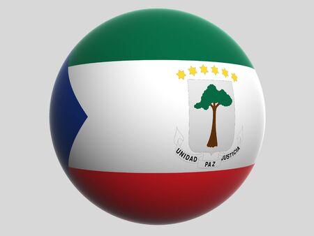 Bandera Nacional. Guinea Ecuatorial Foto de archivo