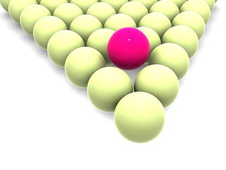 particular: Billiard balls. 3d Stock Photo