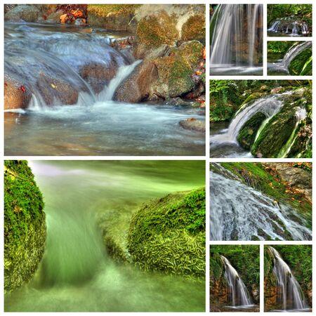 murmur: Beautiful collage of waterfalls from nine photos