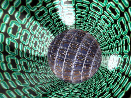 Digital code. 3d