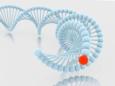 Gene in DNA. 3d