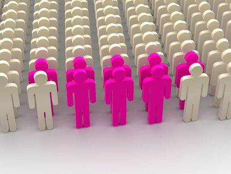 Silhouettes of people. 3d Stock Photo - 7195408