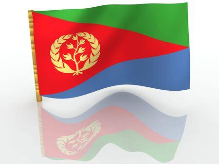 eritrea: Eritrea. National Flag Stock Photo