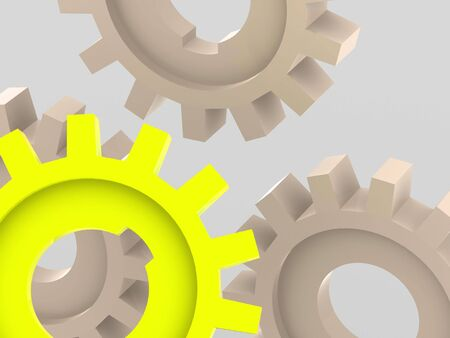 industrially: gear. 3d