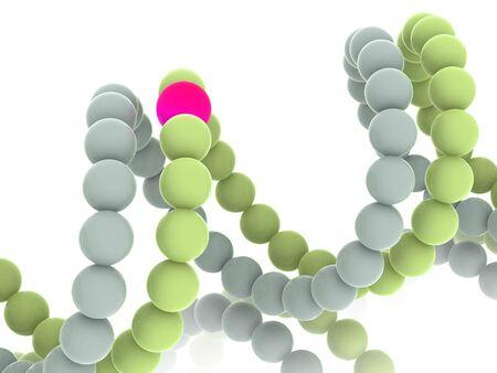gene in DNA. 3d Stock Photo