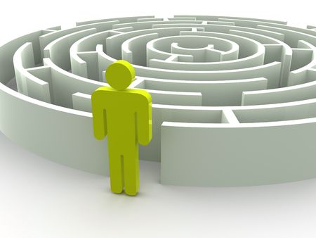 Three-dimensional graphic image. Labyrinth. 3d Stock Photo - 7855126