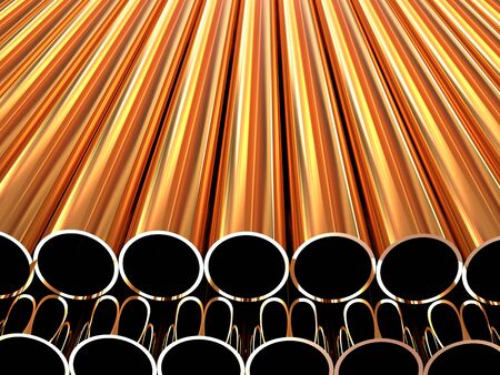 stack of steel tubing 3d Stock Photo - 7995772