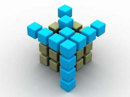ebox: scatola. 3d Archivio Fotografico