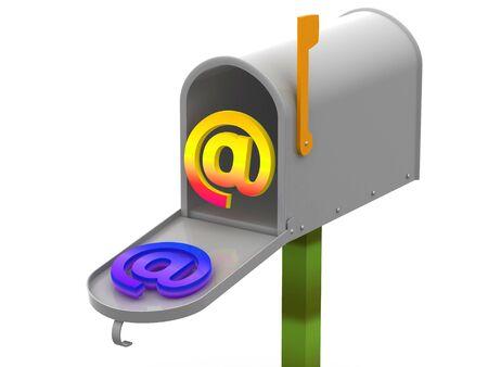 addressed: mailbox 3d Archivio Fotografico