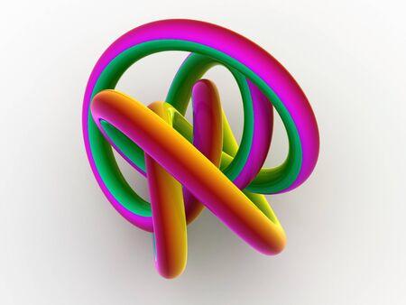 torus knot. 3d photo