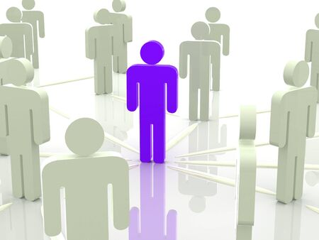 distinguish: Silhouettes of people. 3d Stock Photo