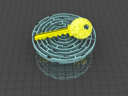 Key. 3d Stock Photo - 15256944