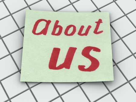 about us: about us. text Stock Photo