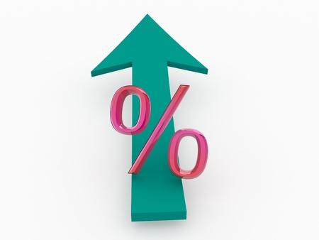 Percent. 3d Stock Photo - 18024289
