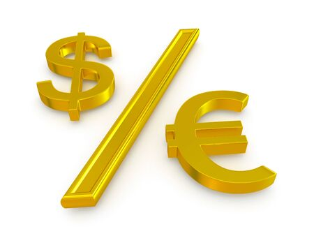 dollar and the euro  exchange rate Stock Photo - 18455213