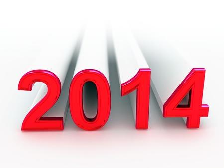 Feliz Año Nuevo 2014 3d Foto de archivo - 19586377