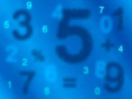Background of numbers  from zero to nine  photo