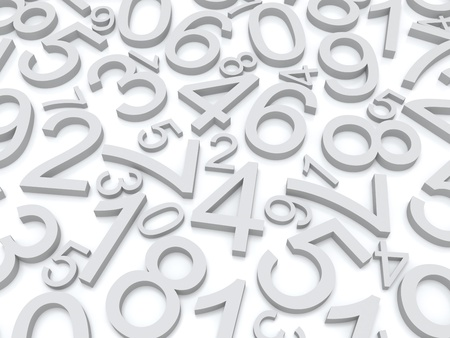 three dimensional background: Background of numbers  from zero to nine  Stock Photo
