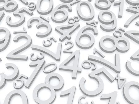 Background of numbers  from zero to nine  Standard-Bild