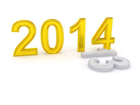 Happy New Year 2014  3d photo