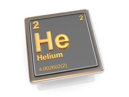 Helium  Chemical element  3d photo