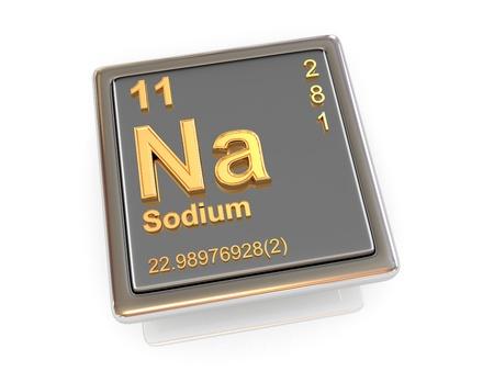 si�o: De s�dio. Elemento qu�mico. 3d