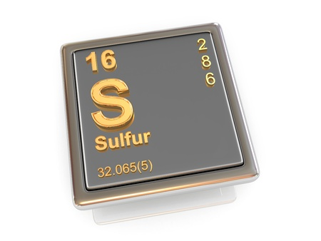 sulfur: Sulfur. Chemical element. 3d Stock Photo
