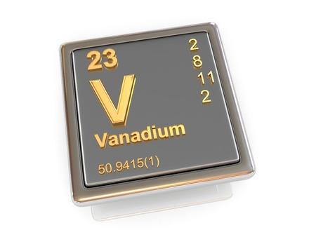 vanadium: Vanadium  Chemical element  3d Stock Photo