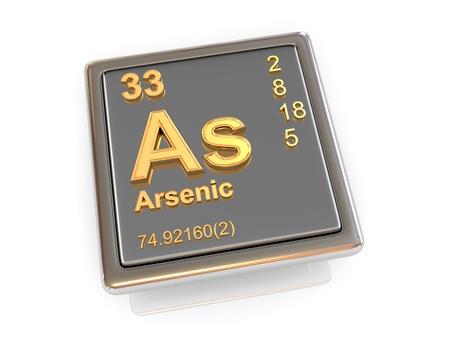 Arsenic  Chemical element  3d photo