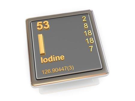 iodine: Iodine  Chemical element  3d Stock Photo
