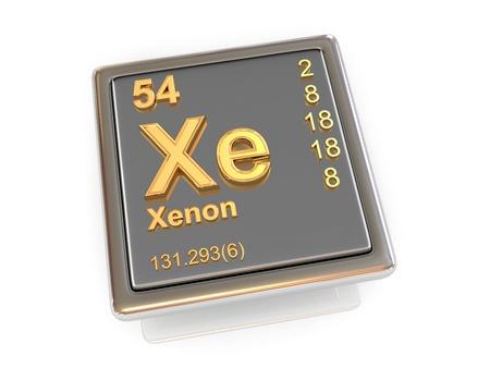 xenon: Xenon  Chemical element  3d Stock Photo