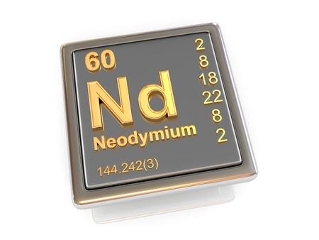 Neodymium nd chemical element periodic table 3d render stock photo urtaz Gallery