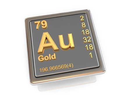 Gold  Chemical element  3d photo