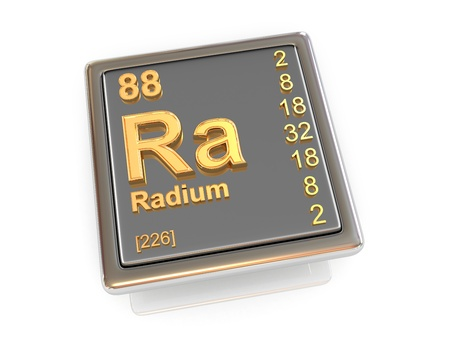 Radium  Chemical element  3d Stock Photo - 19825333