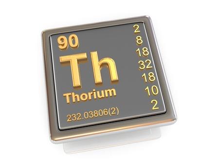 thorium: Thorium  Chemical element  3d Stock Photo