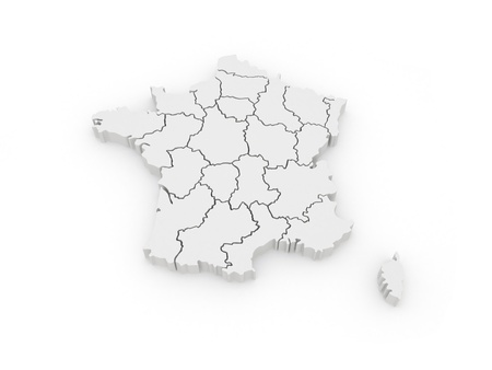 Three-dimensional map of France  3d photo