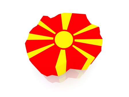 macedonia: Map of Macedonia  3d