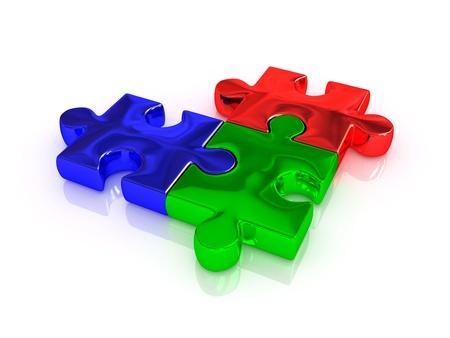 polygraphic: RGB  Puzzle  3d
