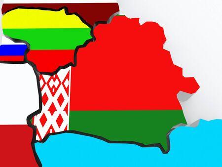 diplomacy: Map of Belarus. 3d